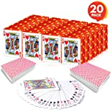 Gamie Mini Playing Cards - Pack of 20 Decks - Poker Cards - Miniature 1.5 Inch Card Set - Small Casino Game Cards for…
