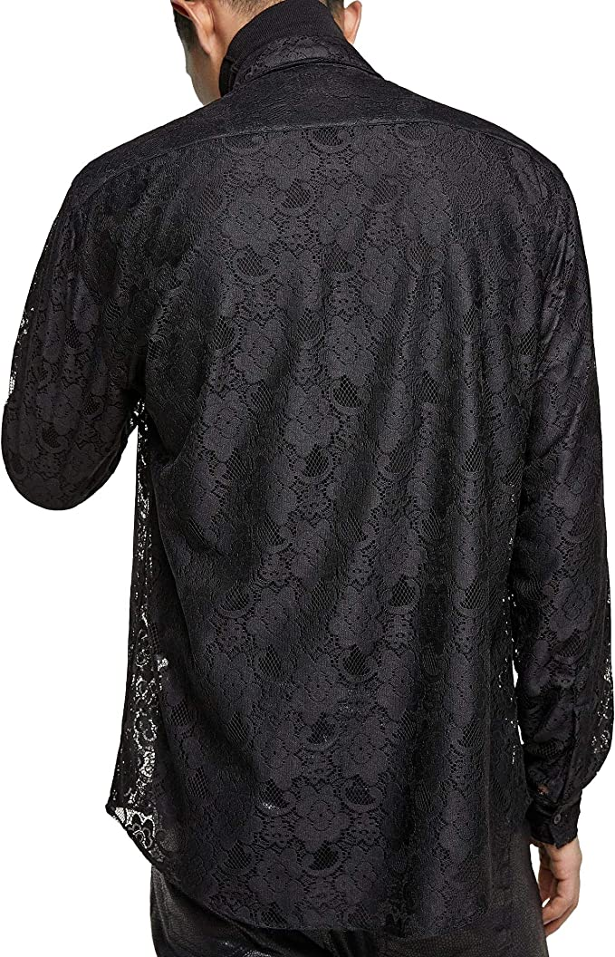 Zara 6175/215 - Camiseta para Hombre con Efecto de Encaje ...