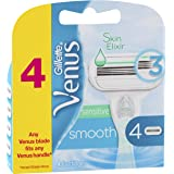 Gillette Venus Smooth Sensitive Women's Razor Blades - 4 Refills