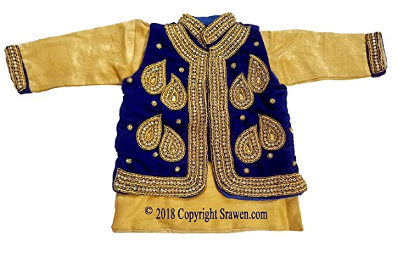 7c4ca8d39dbee Image Unavailable. Image not available for. Color: Srawen Pasni Dress/Set  Nepali annaprasan Ceremony/Rice Feeding Baby boy Dress Baby WEANING