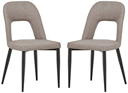 Sensational Rivet Florence Mid Century Modern Wide Open Back Accent Kitchen Dining Chairs 18 8W Grey Set Of 2 Dailytribune Chair Design For Home Dailytribuneorg