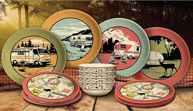 Camp Casual CC-001 - Juego de platos (12 piezas)
