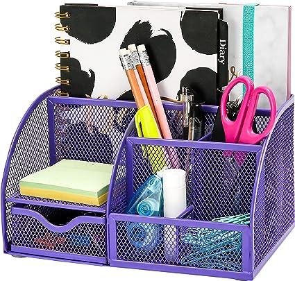 scrivania scrivania organizer per scrivania portapenne colore: rosa organizer da scrivania Organizer da scrivania nero grande in metallo