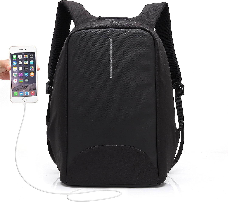 Mochila Antirrobo Hombre Mujer UBAYMAX Mochila Laptop Portatil Backpack Seguridad para Trabajo Negocios Originales Elegante Mochila Impermeable Puerto USB Bolsa Ordenador con Modernist Look