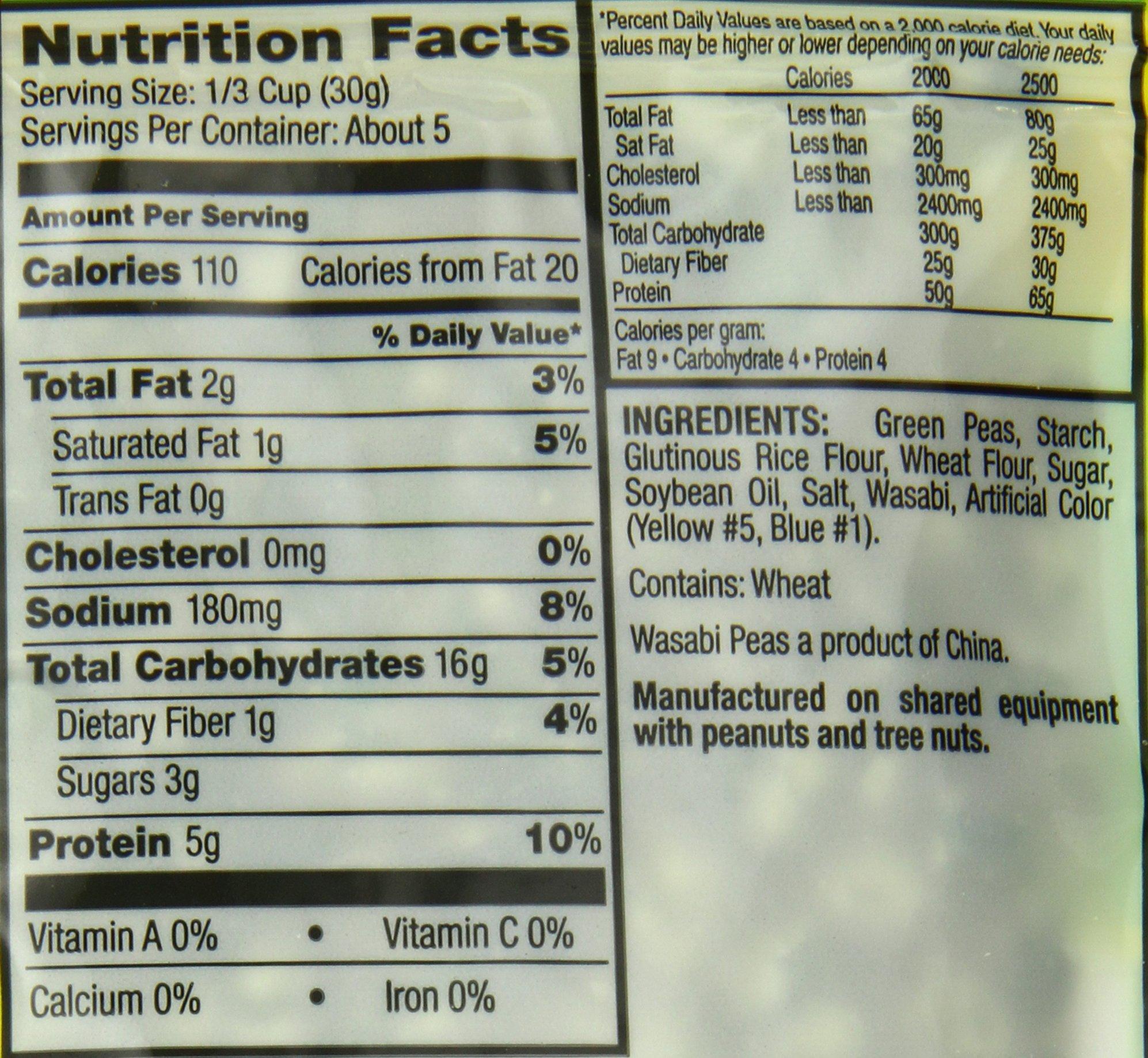 Good Sense Savory Snacks, Wasabi Peas, 5-Ounce Bags (Pack of 12) by Good Sense (Image #2)