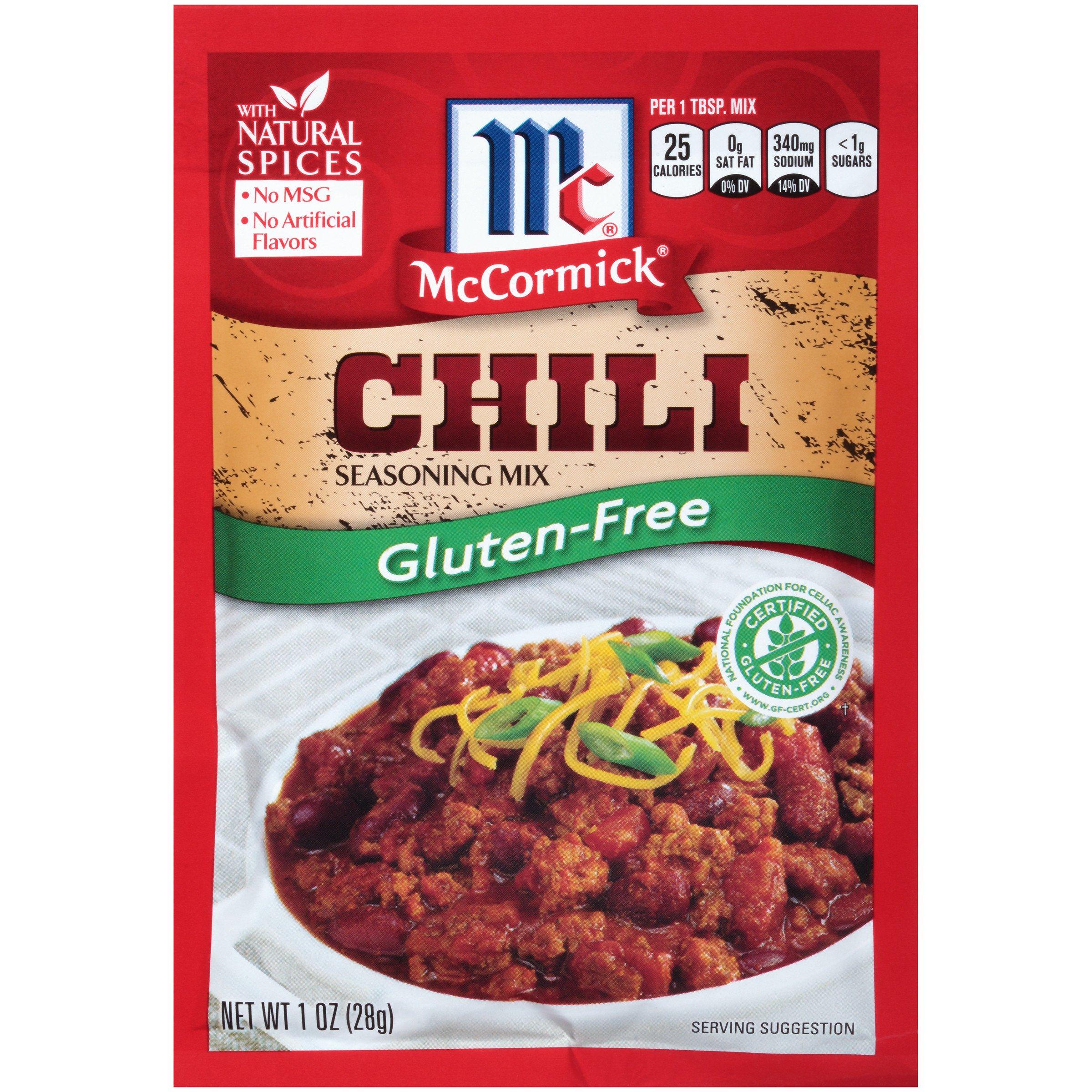 McCormick Gluten Free Chili Seasoning Mix, 1 oz (Pack of 12)