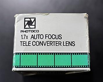 PhotoCO 1.7x Auto Focus Tele ONLY for 35mm Film SLR Cameras Nikon Mount Converter Lens for Nikon N//AF