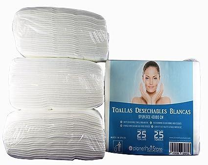 Toallas Desechables Peluquería PlanetHair Store® (300 uds) 40x80 Blancas Spunlace-Spunpet®