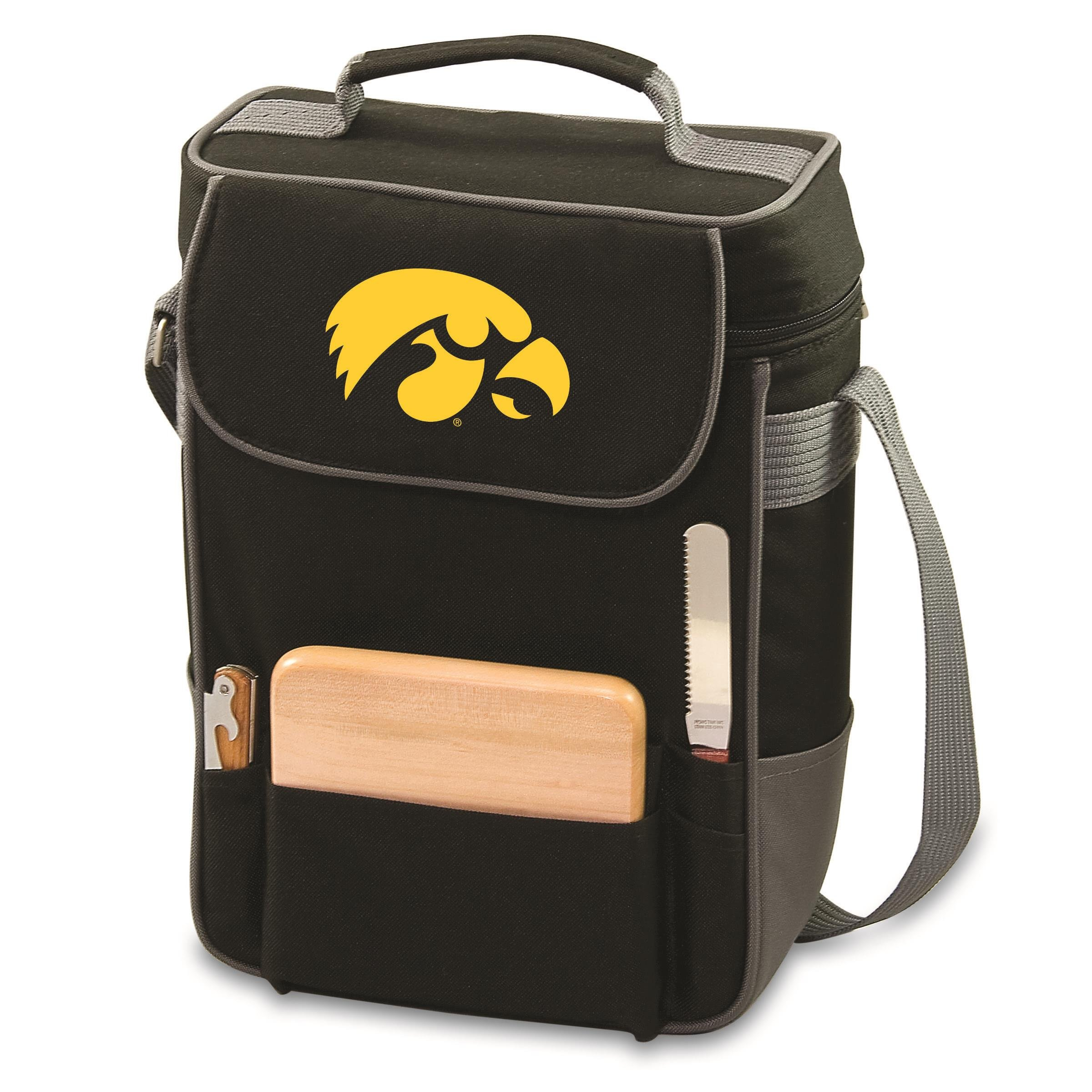 PICNIC TIME NCAA Iowa Hawkeyes Duet Insulated Wine and Cheese Tote with Team Logo by PICNIC TIME