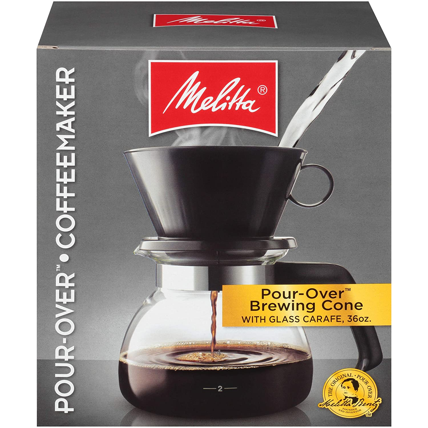 Melitta Pour Over Coffee Brewer W Glass Carafe 6 Cups 6 Ozper Cup Amazon Com Grocery Gourmet Food