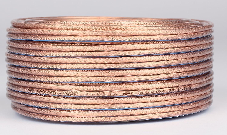 30 m Lautsprecherkabel 2x2,5 mm² OFC Kupfer Made: Amazon.de: Elektronik