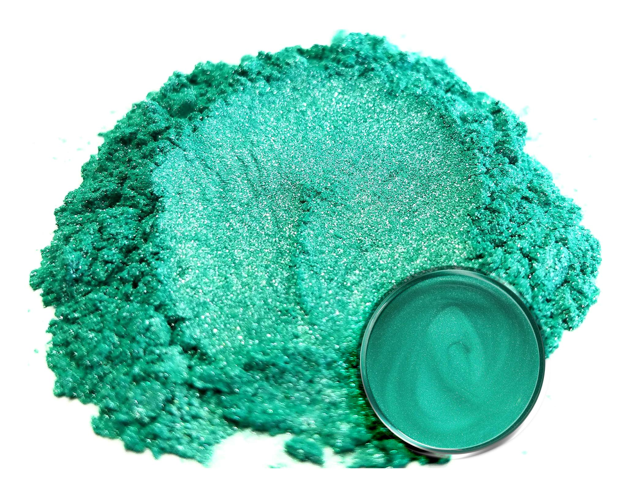 Mica Powder Pigment ''Wasabi Green'' (50g) Multipurpose DIY Arts and Crafts Additive | Woodworking, Epoxy, Resin, Natural Bath Bombs, Paint, Soap, Nail Polish, Lip Balm by Eye Candy