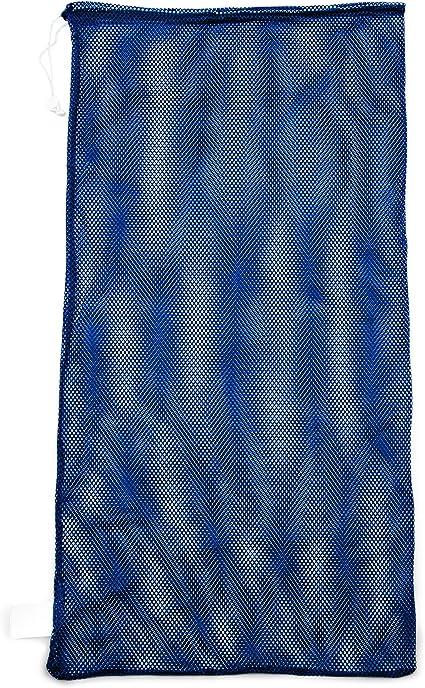 "Champion Sports 24x48/"" Heavy Duty Nylon Mesh Equipment Bag With Drawstring Navy"