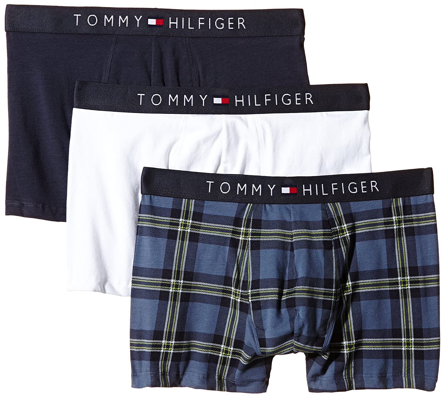 Tommy Hilfiger Flag Trunk Check 3 Pack, Bóxers para Hombre, Parisian Night-PT/Multi, XL: Amazon.es: Ropa y accesorios