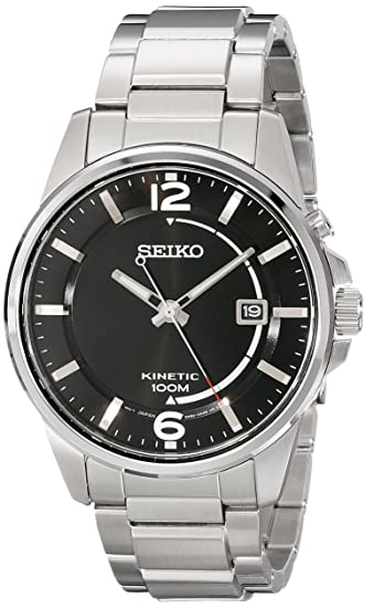Seiko Watches SKA671 - Reloj de Pulsera Hombre, Acero Inoxidable, Color Plata