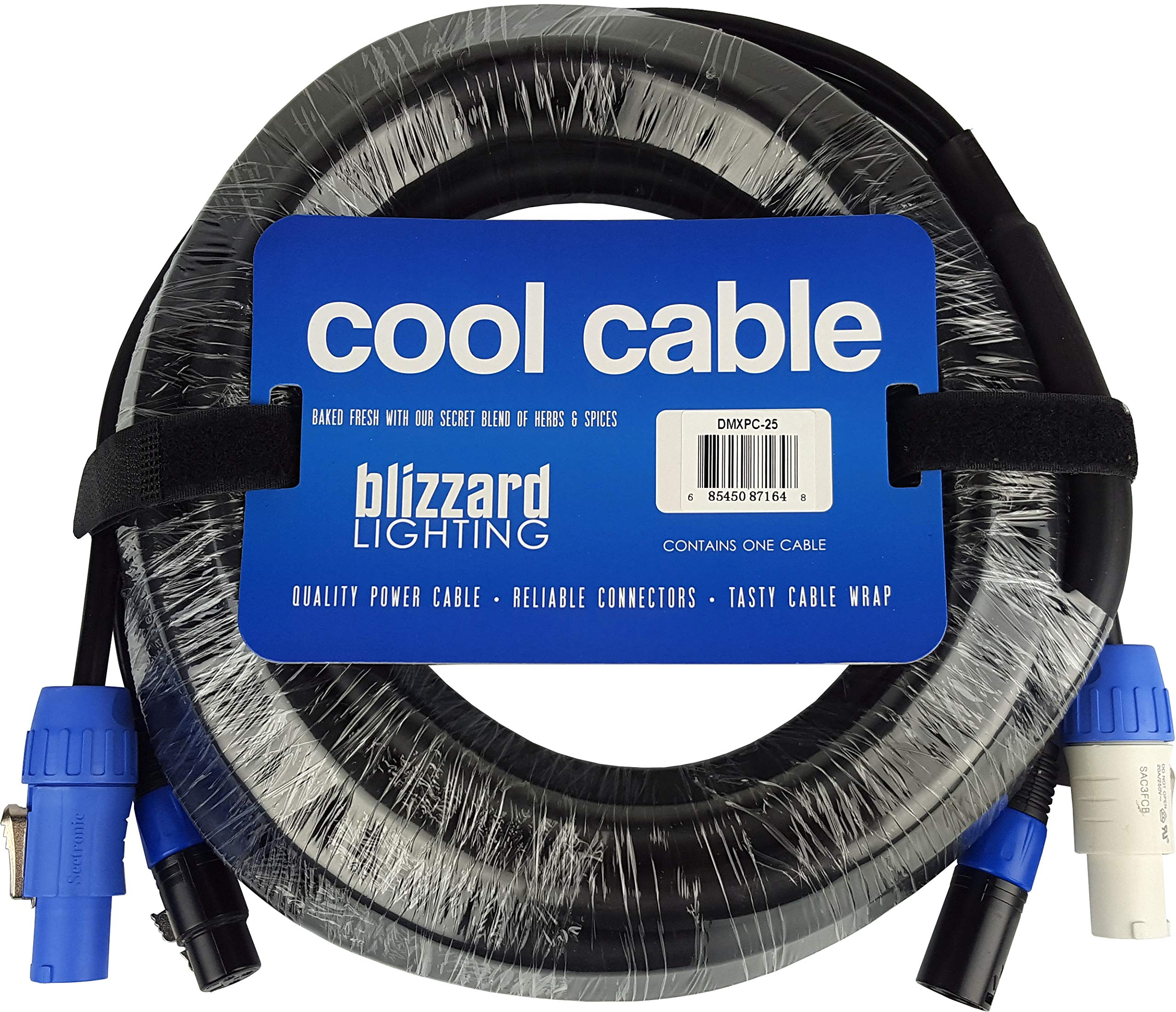 Blizzard Lighting Cool Cables Powercon + DMX Combo (25ft/3-pin) by BLIZZARD LIGHTING