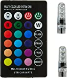 Kingsway kkmparlght0001 LED Parking Bulb with IR Remote for All Cars (Pack of 2, Small, Multicolor)