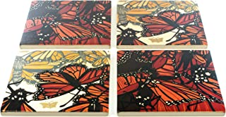 product image for Butterflies Coasters - Original Woodcut by Jenny Pope - Set of 4 Wooden Coasters