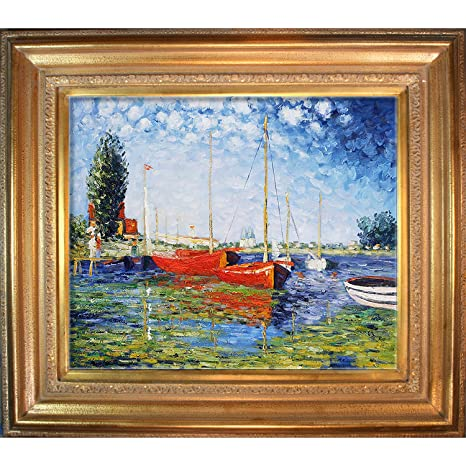 Amazon com: Hand-Painted Reproduction of Claude Monet Red