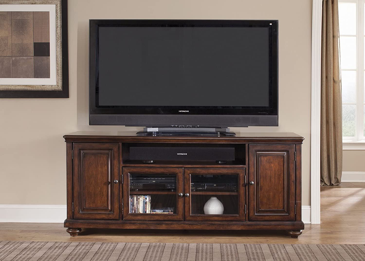 Amazon.com: Liberty Furniture Industries 389 TV77 Java Finish Martinique  Entertainment TV Console: Kitchen U0026 Dining