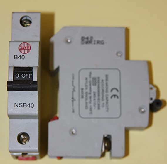 wylex nsb40 b40 40 amp b type mcb circuit breaker black clip