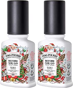 Poo-Pourri Secret Santa 2 Ounce, Before You Go Toilet Spray 2 Pack