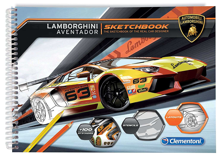 Automobili Lamborghini Herren Album Aventador Zum Anmalen Mit