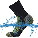 SuMade 100% Waterproof Socks, Unisex Men Women Breathable Dry Fit Moisture Wicking Hiking Cycling Kayaking Crew Socks