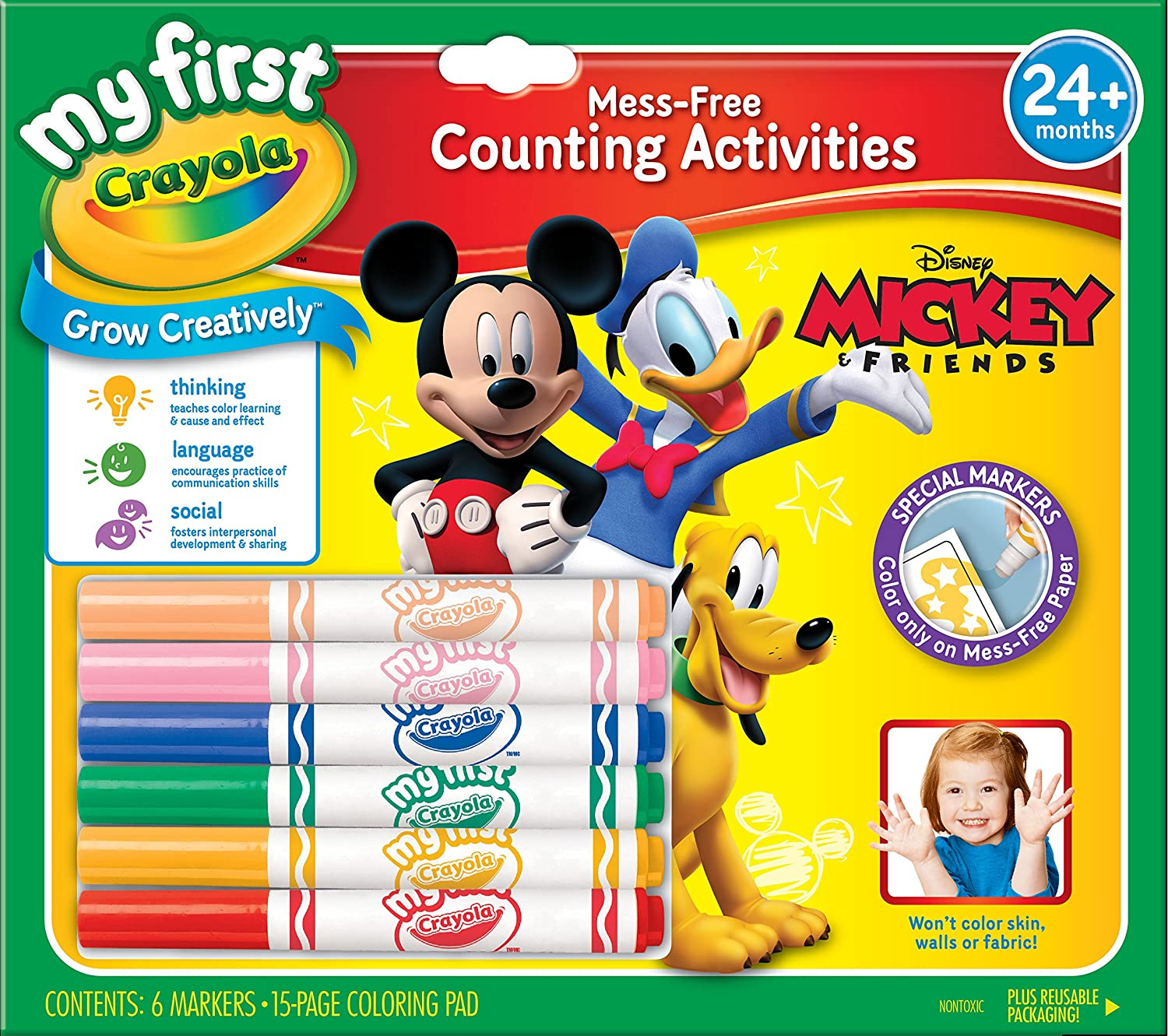 Amazon.com: Crayola My First Mickey Markers and Paper: Toys & Games