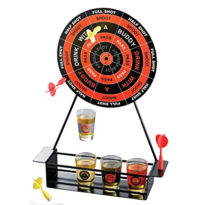 Crystal Clear 326253-GB Shot Glass Darts Bar Game Set, 2x2x2: Kitchen & Dining
