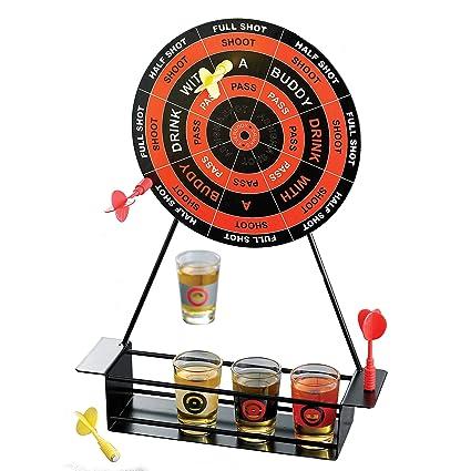 Amazon Com Crystal Clear Shot Glass Darts Bar Game Set Kitchen