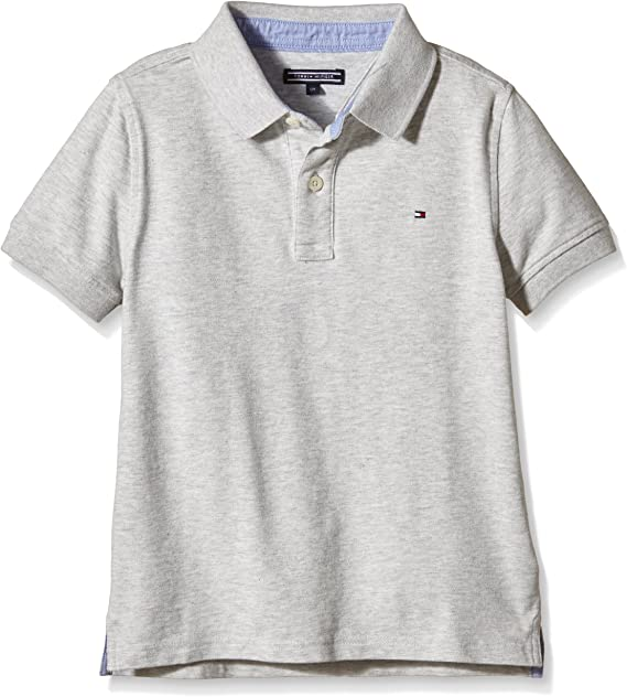 Tommy Hilfiger Ame Tommy S/S Polo, Gris (Light Grey Heather 023 ...