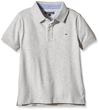136c4e52 Tommy Hilfiger Boy's Ame Tommy S/S Polo Shirt,green (Light Grey Heather