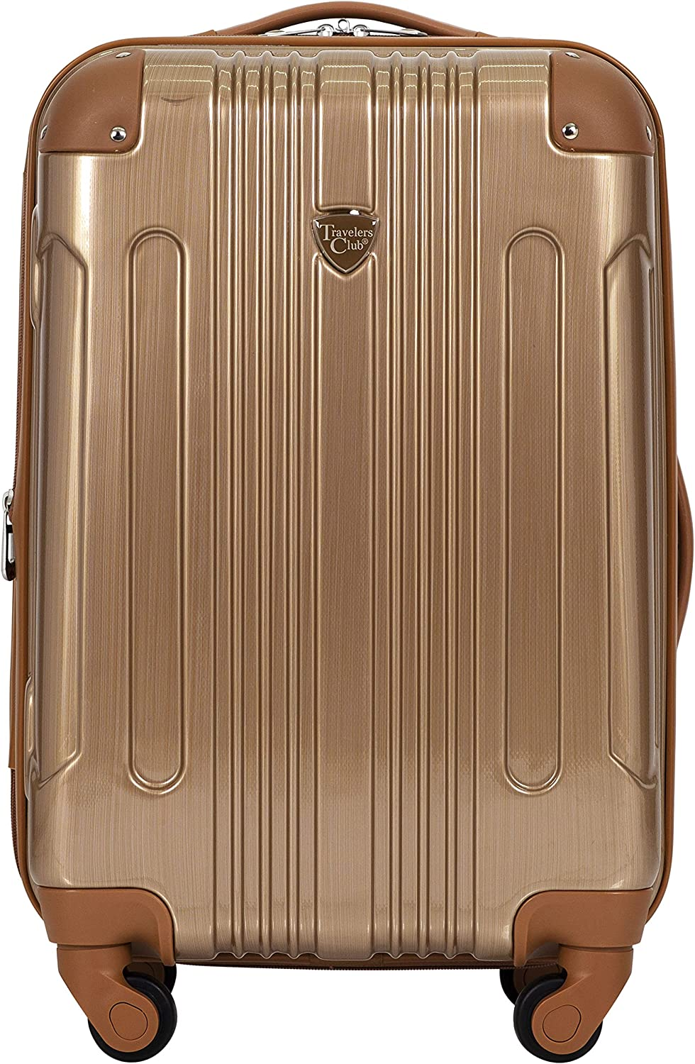 Travelers Club 20 or 3 Piece Polaris Metallic Accent Spinner Luggage