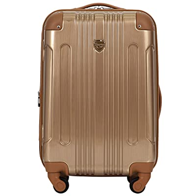 """Travelers Club Polaris 20"""" Met Hardside Exp Carry-on Spin"""
