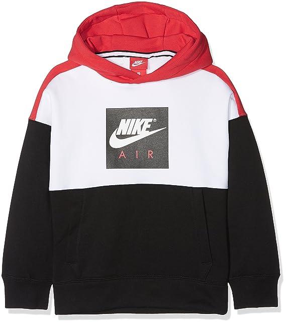 sports shoes 20bf5 4c767 Nike Air Jungen Sweatshirt mit Kapuze, mehrfarbig (White ...