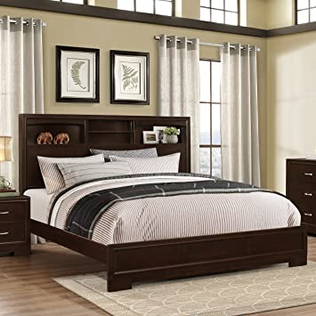 Amazon.com: Roundhill Furniture Montana Modern Wood Bookcase Bed ...