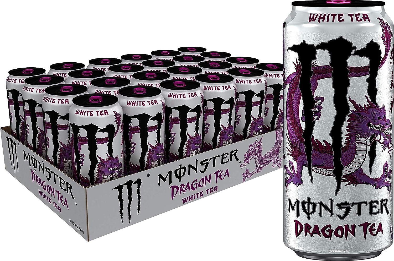 Monster Energy Dragon Tea, White Tea + Dragonfruit, 15 5 oz (Pack of 24)