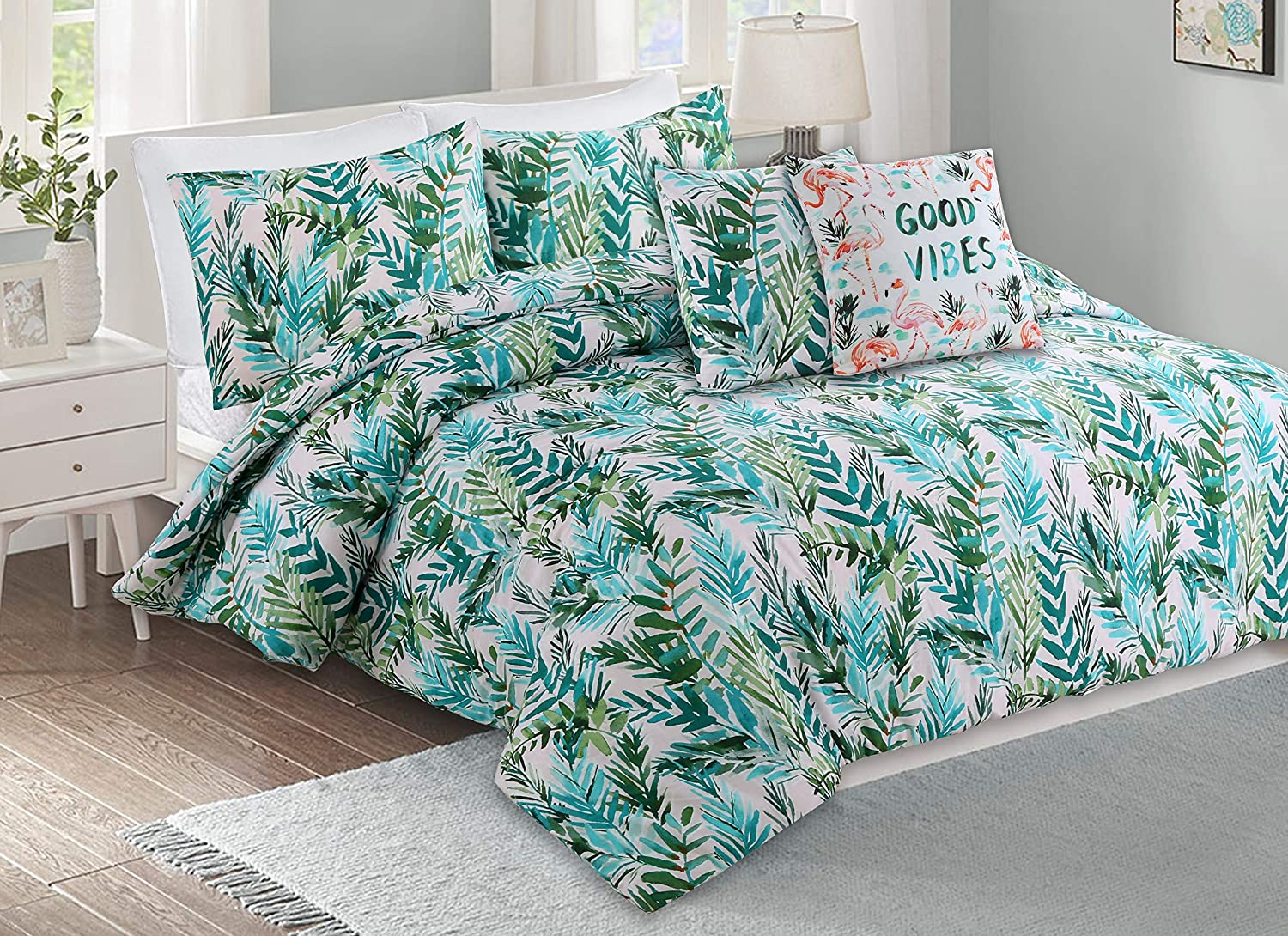 BARBARIAN by Barbra Ignatiev Sunset Palm Printed 2, 3 Pieces Comforter Set (Full/Queen)