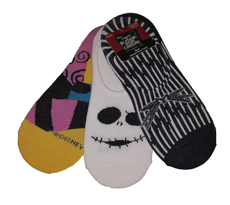 Nightmare Before Christmas Jack Skellington Sally Liners Socks at ...