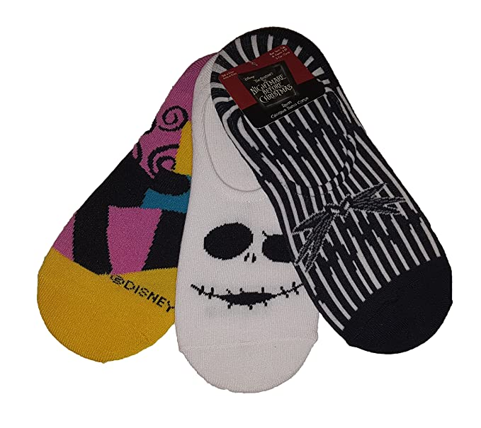 Nightmare Before Christmas Jack Skellington Sally Liners Socks
