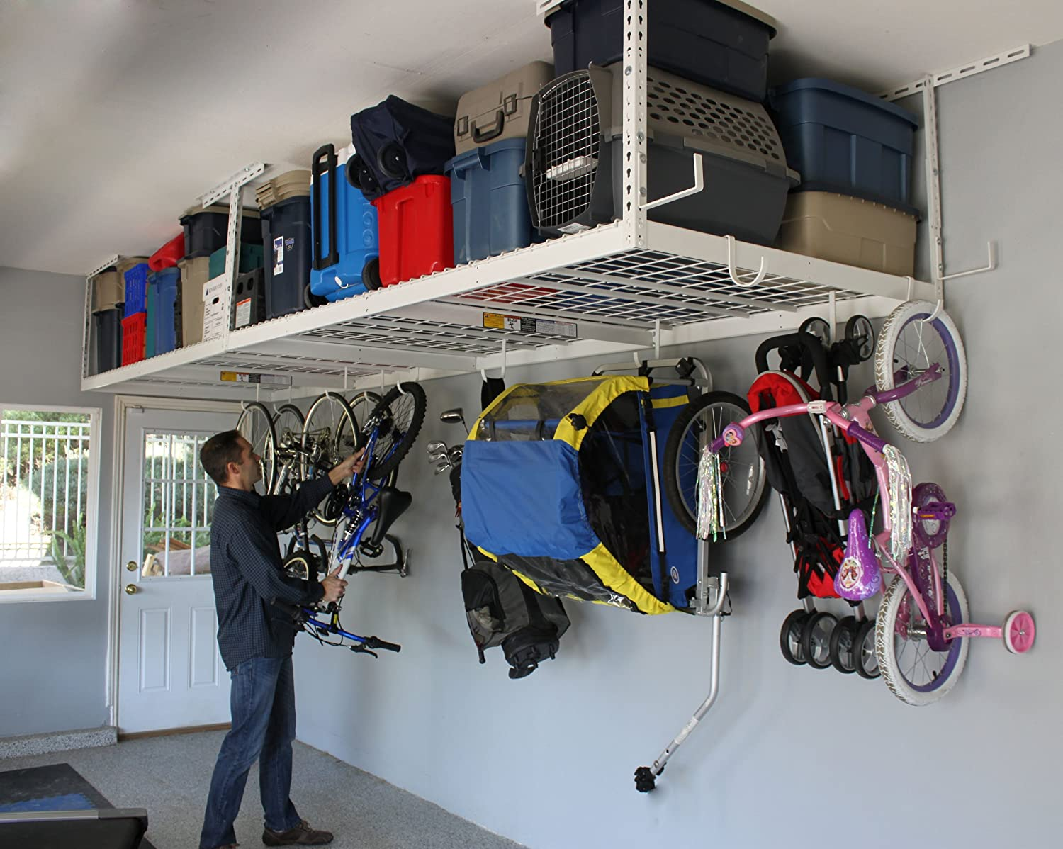 reviews bike storage image home ceiling tire overhead for mounted racks depot full garage