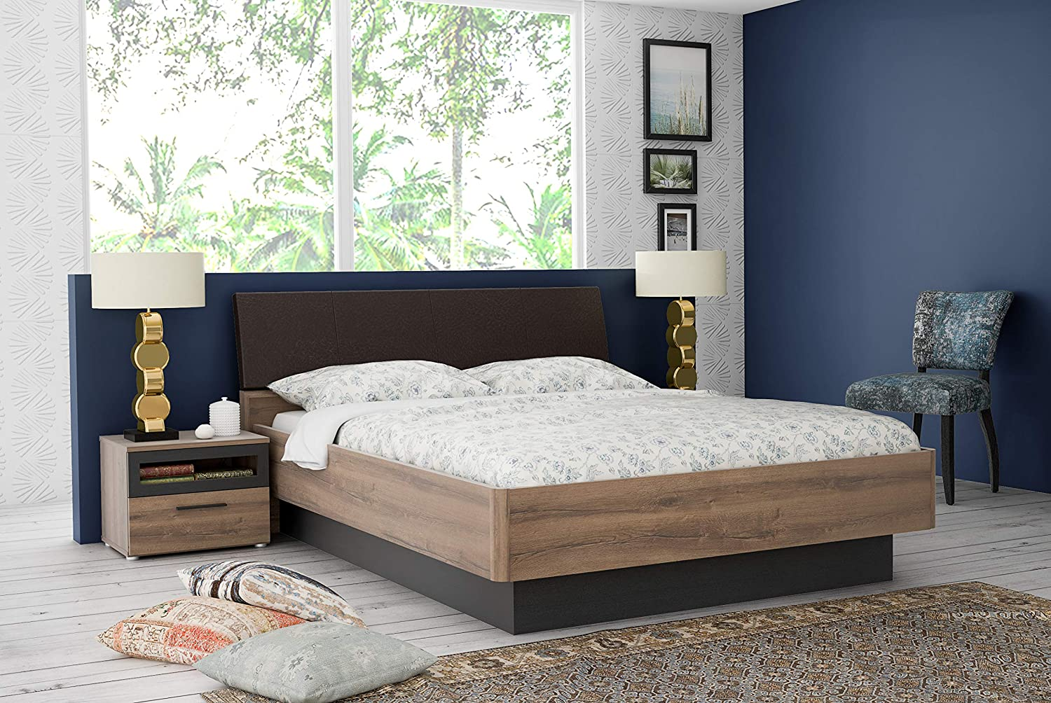 Stylespa Jacky Queen Size Engineered Wood Bed With Hydraulic