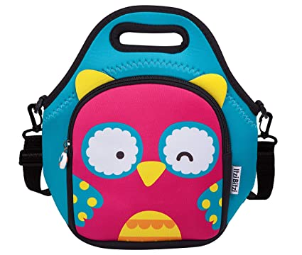 39e9c14cc6ab ITZI BITZI Waterproof, Insulated Neoprene Kids Lunch Bag with Adjustable  Strap Unique, Fun Children's Lunch Bag and Backpack | Lightweight Lunch  Tote ...