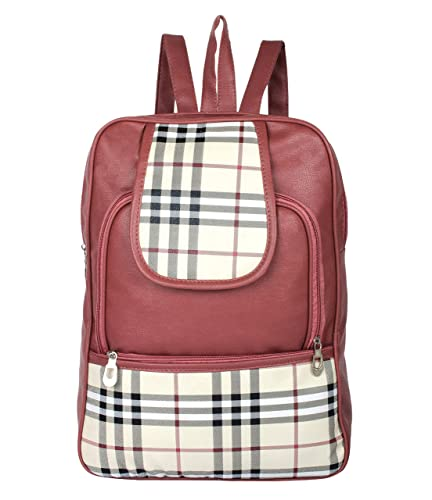 d5f2fab7fbca79 Beets Collection Student Shoulder Backpack for Women & Girls Bag (Brown and  White)