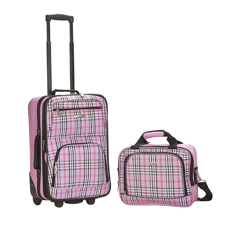 Rockland Luggage 2 Piece Set, Owl, One Size Fox Luggage F102