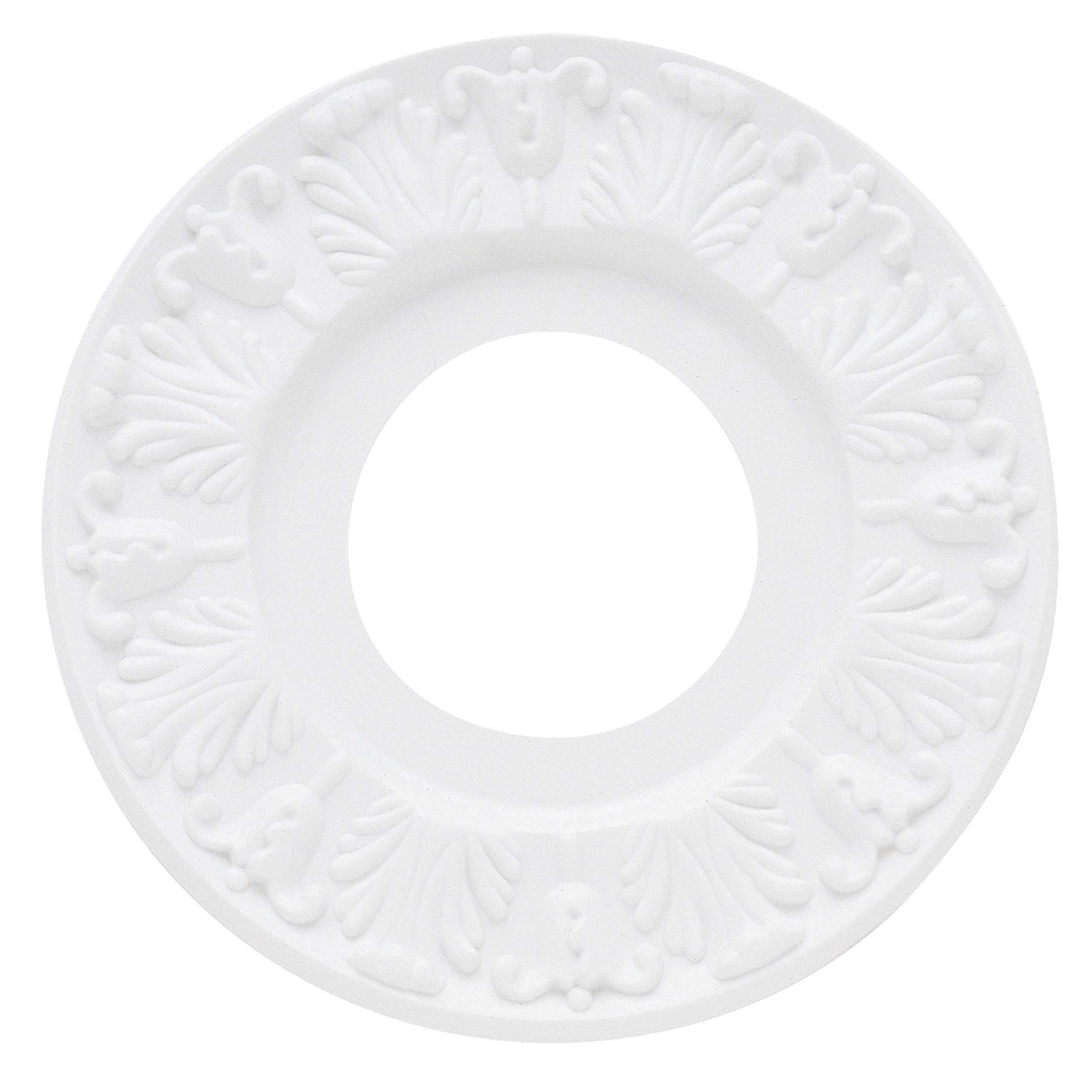Westinghouse 7702700 Lighting Ceiling Medallions, Molded Plastic, 10 Inch Dia 1 Pack White Finish