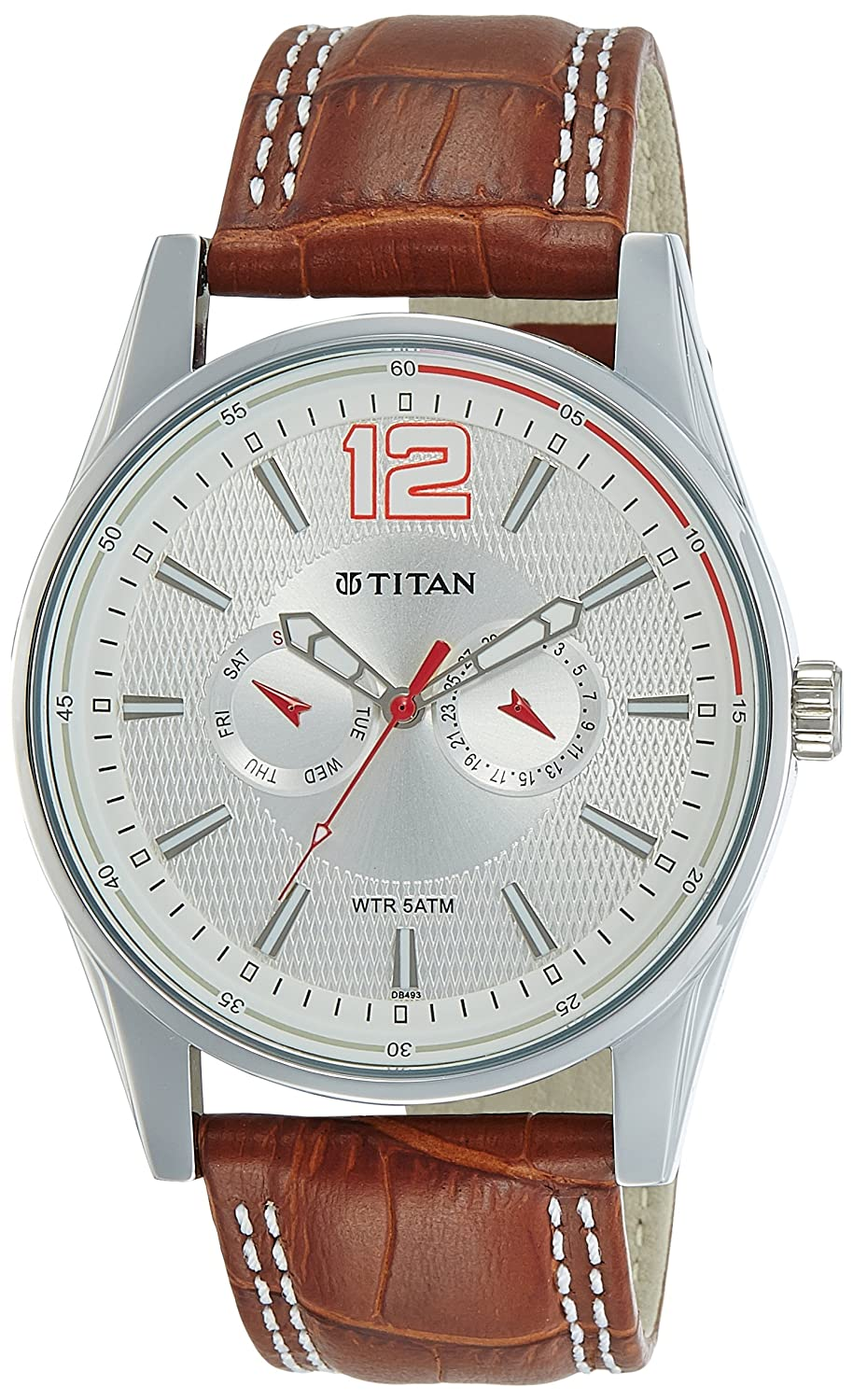 Titan Octane Chronograph Multi-Color Dial Best Mens Watches Under 5000 in India to buy in 2019 - Reviews & Buyers Guide