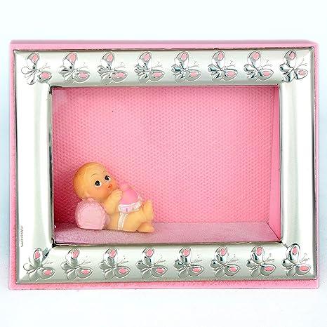 Fotos infantil rosa niña marco plateado laminado Argenti ...
