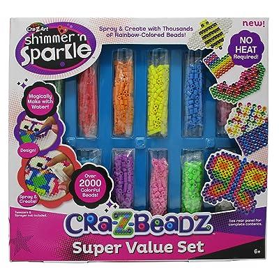 Cra-Z-Art Shimmer 'N Sparkle - CRA-Z-Beads Super Value Set: Toys & Games
